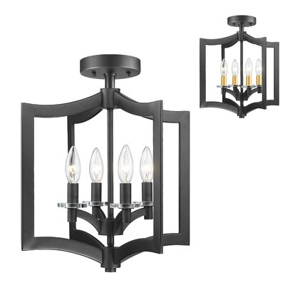 Lilou 4-Light Semi Flush Mount Finish: Bronze