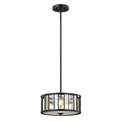 Giambrone 3-Light Drum Pendant Size: 6 H x 14 W x 14 D