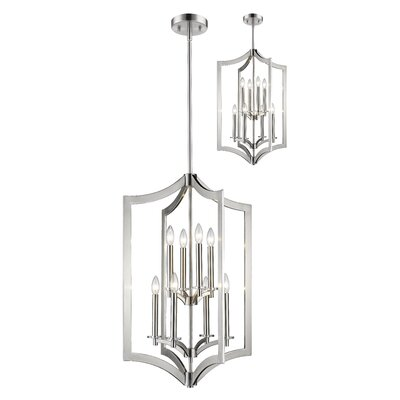 Zander 8-Light Foyer Pendant Finish: Brushed Nickel