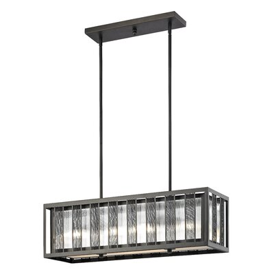 Meridional 4-Light Kitchen Island Pendant Size: 10 H x 32 W x 10 D