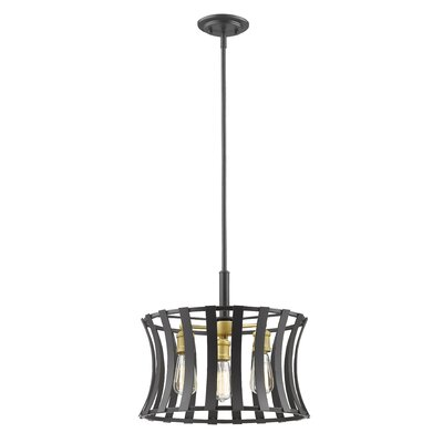Gerling 3-Light Drum Pendant