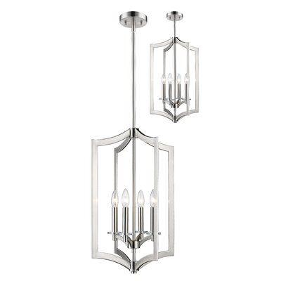 Lilou 4-Light Foyer Pendant Finish: Brushed Nickel