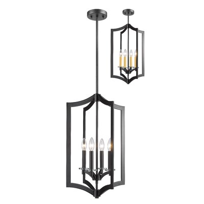 Zander 4-Light Foyer Pendant Finish: Bronze