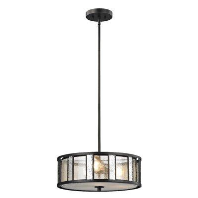 Giambrone 3-Light Drum Pendant Size: 6 H x 18 W x 18 D
