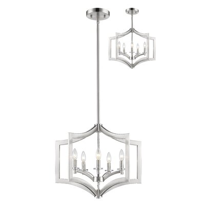 Zander 5-Light Foyer Pendant Finish: Brushed Nickel
