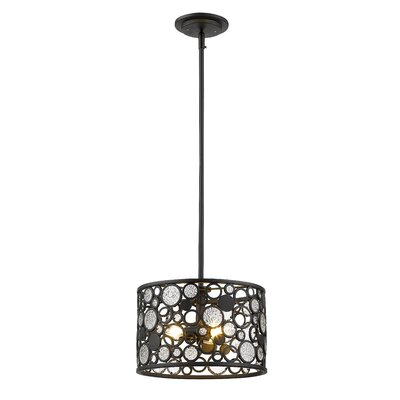 Mcguire 3-Light Drum Pendant