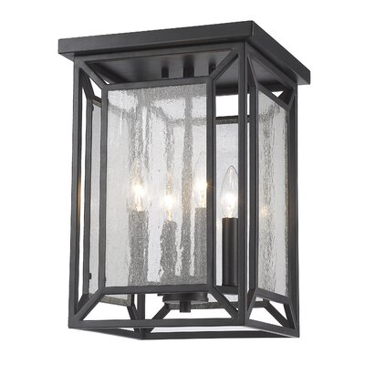 Silverstein Glass Shade 4-Light Foyer Pendant