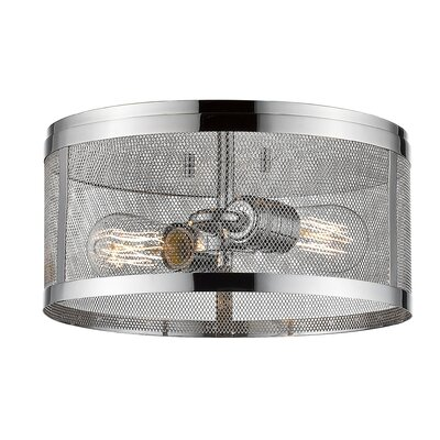 Craner 2-Light Flush Mount Finish: Chrome
