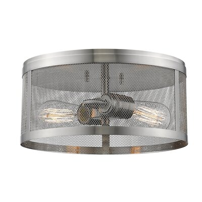 Meshsmith 2-Light Flush Mount Finish: Brushed Nickel