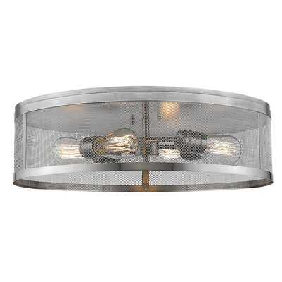 Meshsmith 4-Light Flush Mount Finish: Brushed Nickel