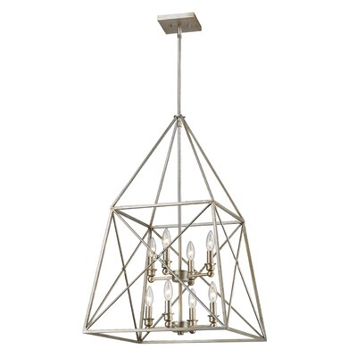 Tolya 8-Light Foyer Pendant Finish: Antique Silver