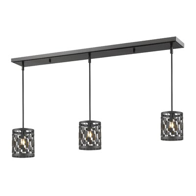 Fearn 3-Light Kitchen Island Pendant Finish: Bronze