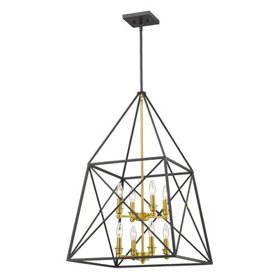 Tressle 8-Light Foyer Pendant Finish: Bronze Gold