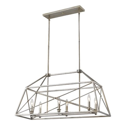 Tolya 6-Light Foyer Pendant Finish: Antique Silver
