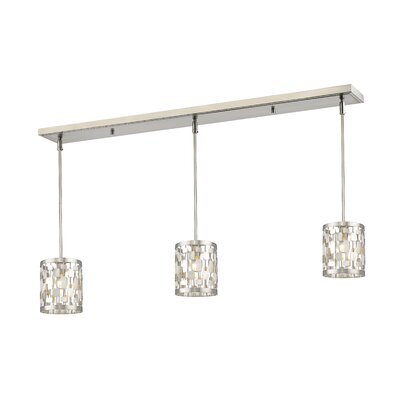 Fearn 3-Light Kitchen Island Pendant Finish: Brushed Nickel