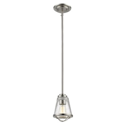 Mariner 1-Light Mini Pendant Finish: Brushed Nickel
