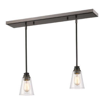 Clayton 2-Light Kitchen Island Pendant Finish: Olde Bronze