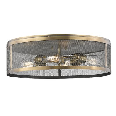 Craner 4-Light Flush Mount Finish: Natural Brass