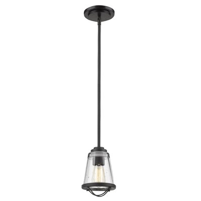 Crowder 1-Light Mini Pendant Color: Bronze