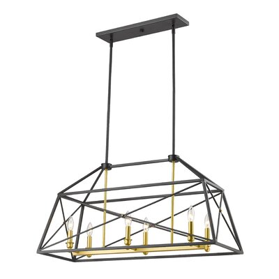 Tolya 6-Light Foyer Pendant Finish: Bronze Gold