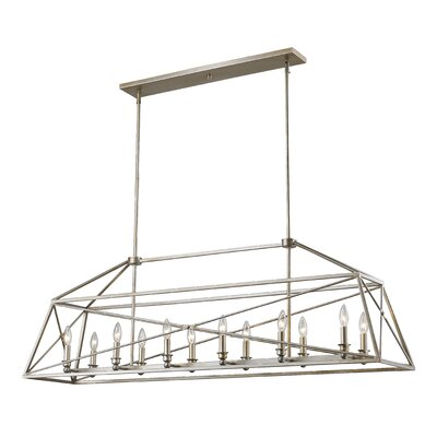 Tolya 12-Light Foyer Pendant Finish: Antique Silver