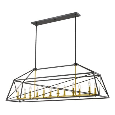 Tolya 12-Light Foyer Pendant Finish: Bronze Gold