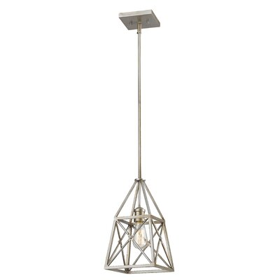 Tolya 1-Light Mini Pendant Finish: Antique Silver