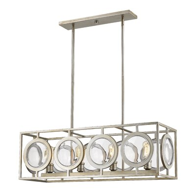 Silvey 4-Light Kitchen Island Pendant Finish: Antique Silver