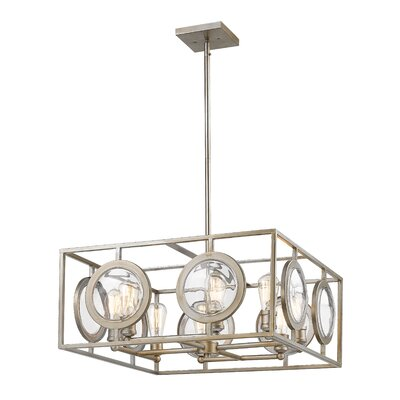 Silvey 8-Light Foyer Pendant Finish: Antique Silver