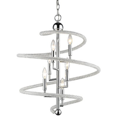 Czarina 6-Light Geometric Pendant