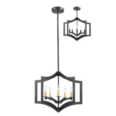 Zander 5-Light Foyer Pendant Finish: Bronze