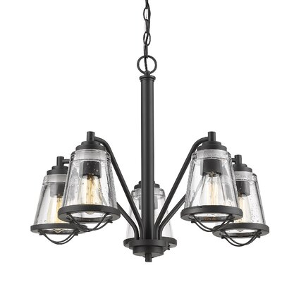 Crowder 5-Light Shaded Chandelier Color: Bronze