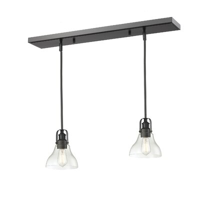 Lindley 2-Light Kitchen Island Pendant Finish: Bronze