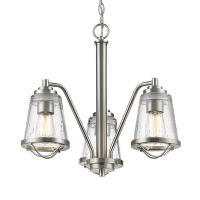 Mariner 3-Light Mini Chandelier Finish: Brushed Nickel