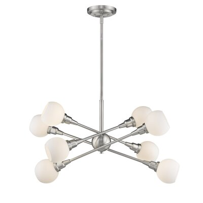 Silvernail 8-Light 75W Sputnik Chandelier