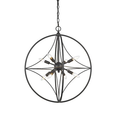 Silvester 8-Light Globe Pendant Finish: Bronze, Size: 23 H x 20 W x 20 D