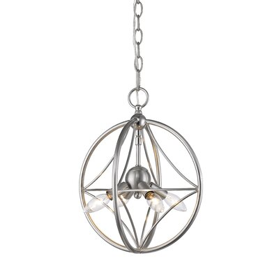 Silvester 4-Light Globe Pendant Finish: Brushed Nickel, Size: 19 H x 16 W x 16 D