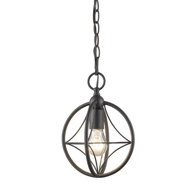 Silvester 1-Light Globe Pendant Finish: Bronze