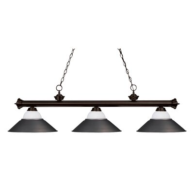 Zephyr Contemporary 3-Light Pool Table Light Base Finish: Bronze