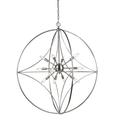 Silvester 12-Light Globe Pendant Finish: Brushed Nickel