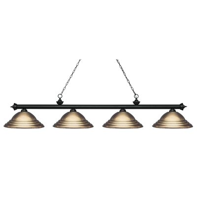 Zephyr Contemporary 4-Light Pool Table Light