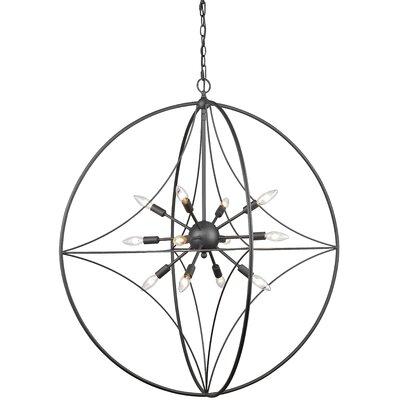 Silvester 12-Light Globe Pendant Finish: Bronze