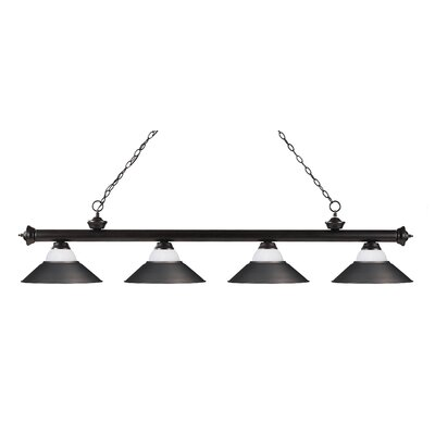 Zephyr 4-Light Pool Table Light Base Finish: Bronze