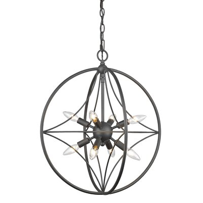 Silvester 8-Light Globe Pendant Finish: Bronze, Size: 27 H x 24 W x 24 D