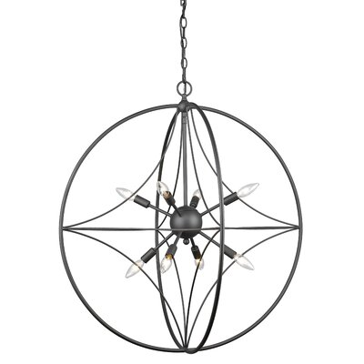 Silvester 8-Light Globe Pendant Finish: Bronze, Size: 33 H x 30 W x 30 D