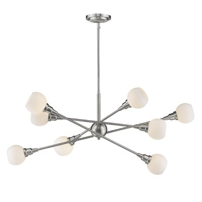 Silvernail 8-Light Dimmable LED Sputnik Chandelier