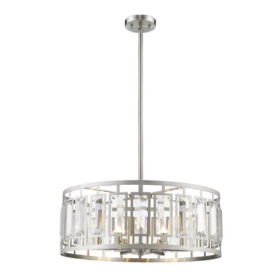 Vella 6-Light Drum Pendant