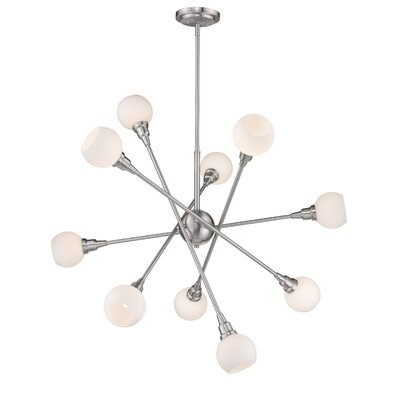 Silvernail 10-Light Sputnik Chandelier