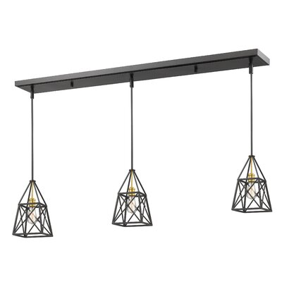 Tolya 3-Light Kitchen Island Pendant