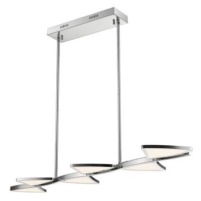 Keli 6-Light LED Kitchen Island Pendant